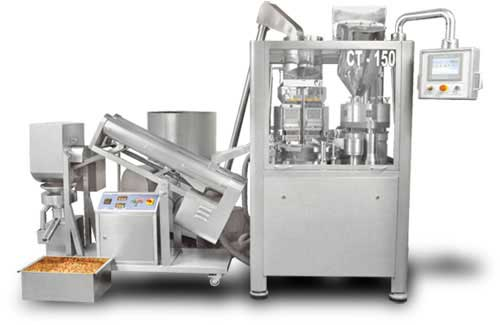 Capsule filling line with Polishing Machine