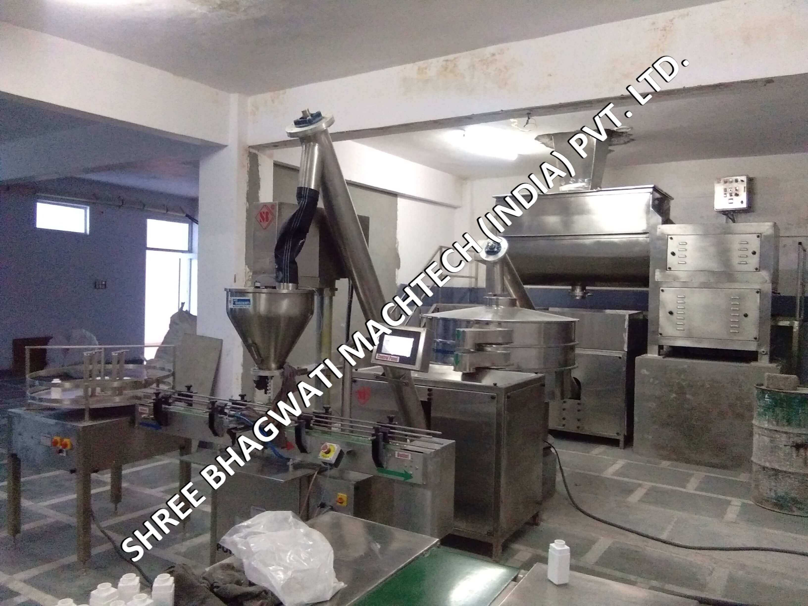 Image result for talcum mixer and filling line